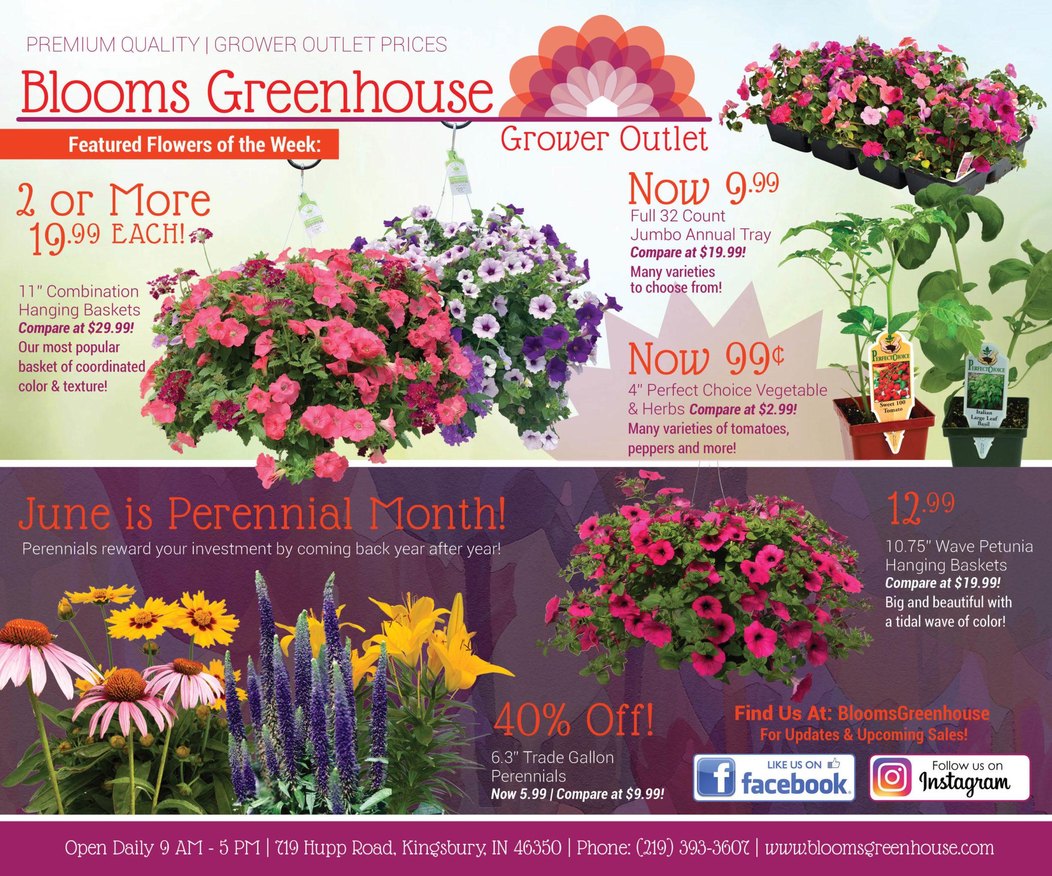 Shop Blooms Greenhouse for June Savings